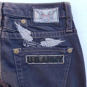 New Women ROBIN'S JEAN sz25 Straight Jeans US ARMY